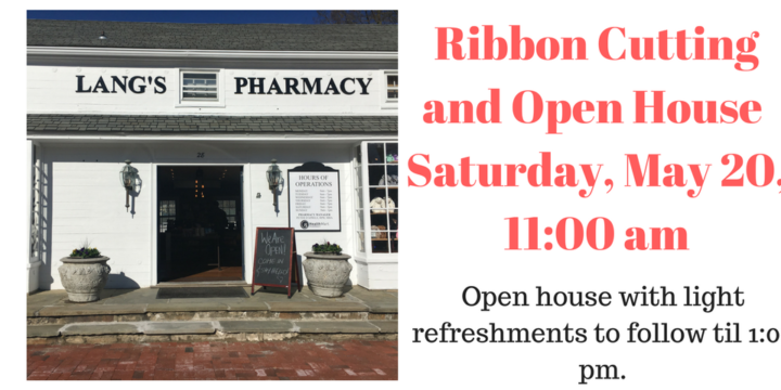 Lang's Pharmacy Ribbon Cutting and Open House