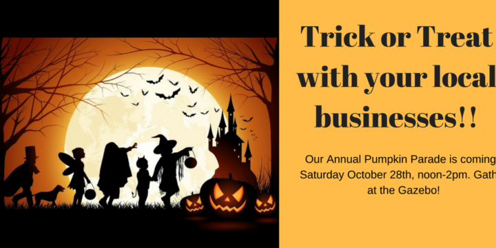 Annual Pumpkin Parade Trick or Treat!