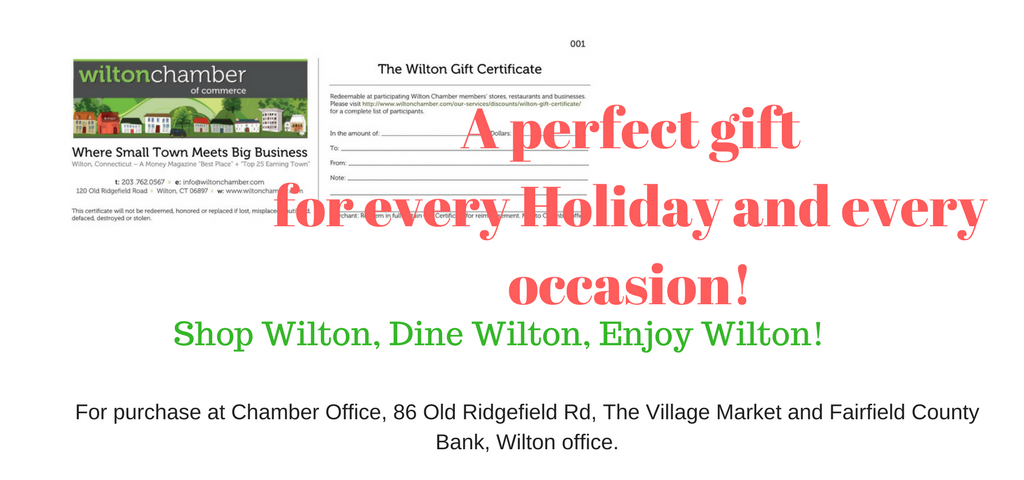 Gift Certificates - Wilton Chamber of Commerce